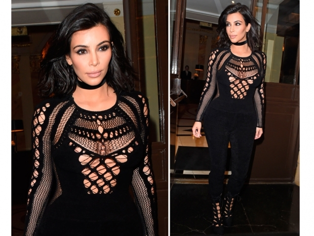 kim kardashian in julien macdonald bodysuit at the 2015 brit awards