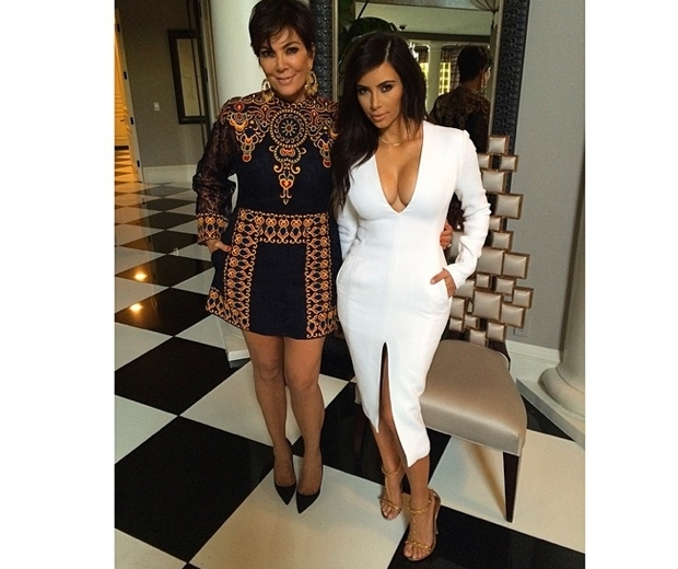 Kim rocked the Wes Gordon dress whilst out with her mom last year