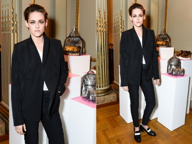 kristen stewart in black suit