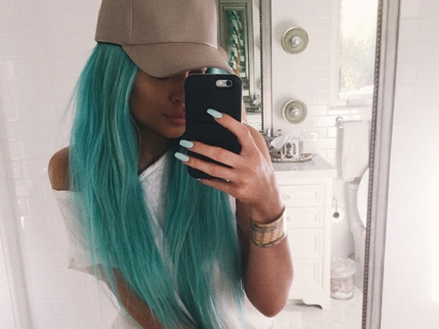 Kylie captioned her selfie,