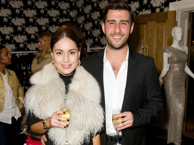 Louise Thompson with her boyfriend Alik Alfus
