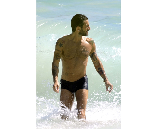 Marc Jacobs in the surf.