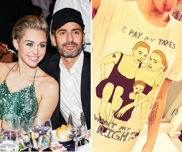Miley Cyrus and Marc Jacobs