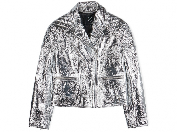 McQ Alexander McQueen Metallic Diamond Biker Jacket