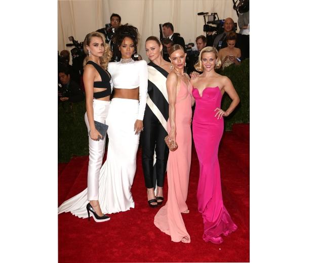 Cara, Rihanna, Stella, Kate & Reese