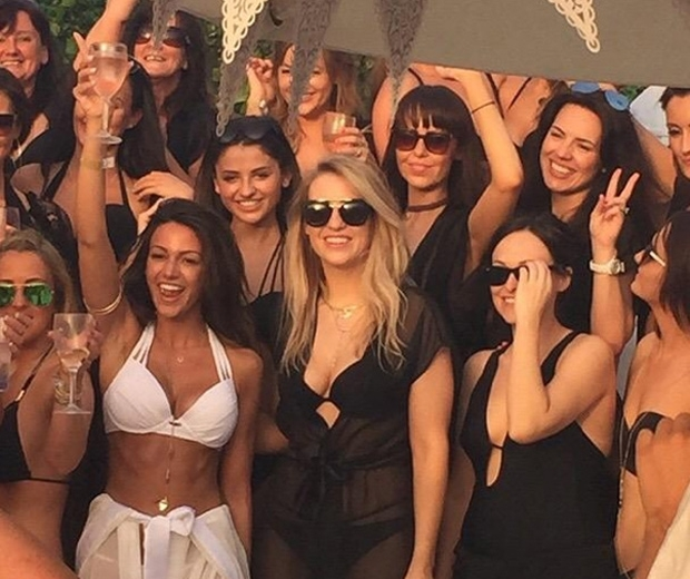Michelle Keegan shows off her bikini body on hen do in Instagram photo
