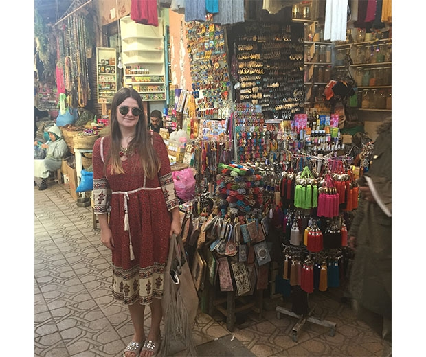 Visiting the tricket-filled souks and wanting to buy everything in sight!