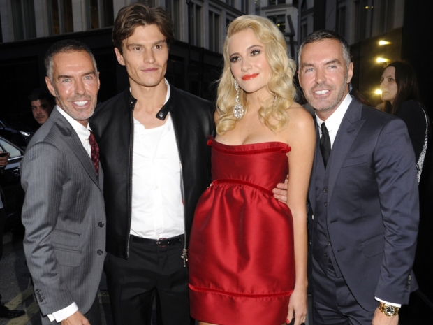 Pixie Lott and Oliver Cheshire at Dsquared2 party