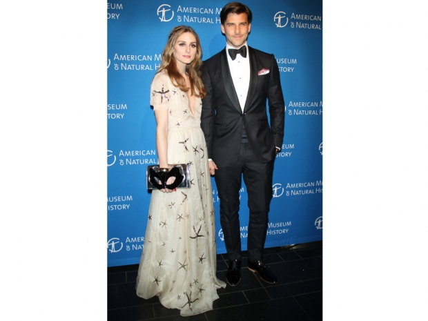 Olivia Palermo and Johannes Huebl looking stylish at a dance in New York