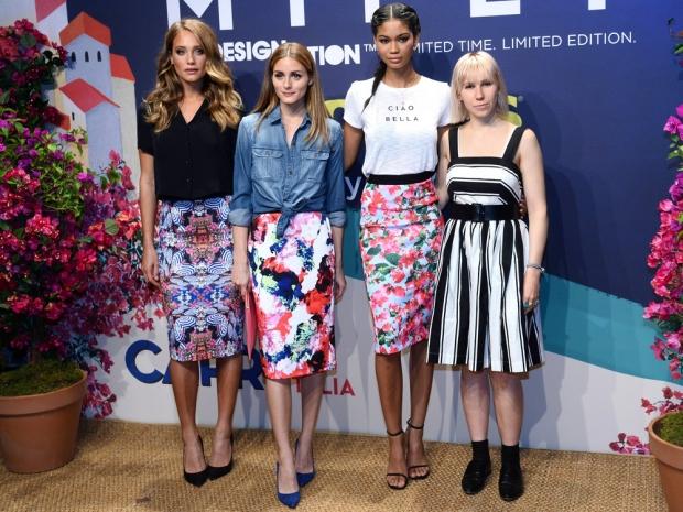 Olivia Palermo, Zosia Mamet, Chanel Iman and Hannah Davis at fashion launch