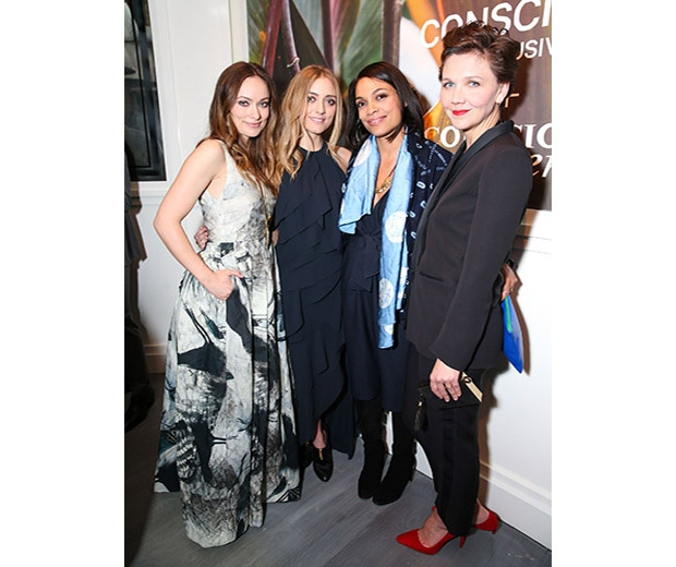 Olivia was joined by , Maggie Gyllenhaal, Rasario Dawson & Barbara Burchfield