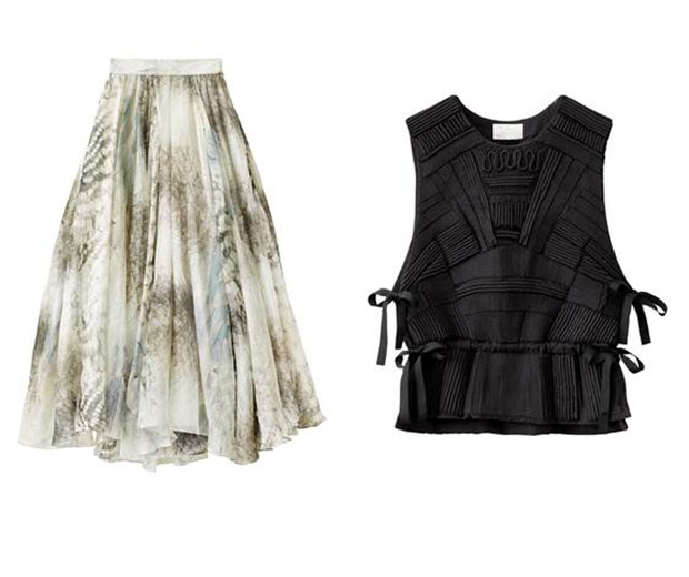 Skirt £99, Top £79.99 Both H&M Conscious Exclusive Collection