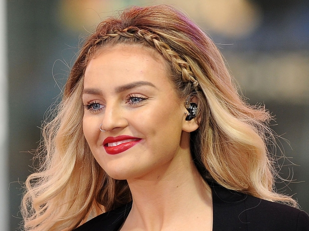 Perrie Edwards with a nose piercing