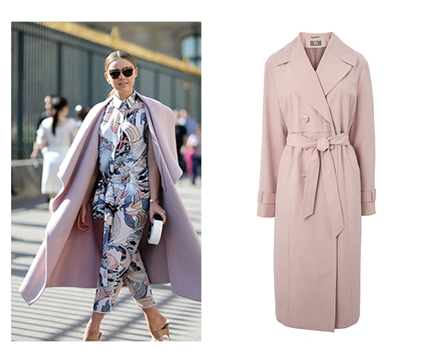 Invest in a pastel pink trench