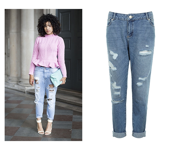 Give denim a girly update with pastel pink