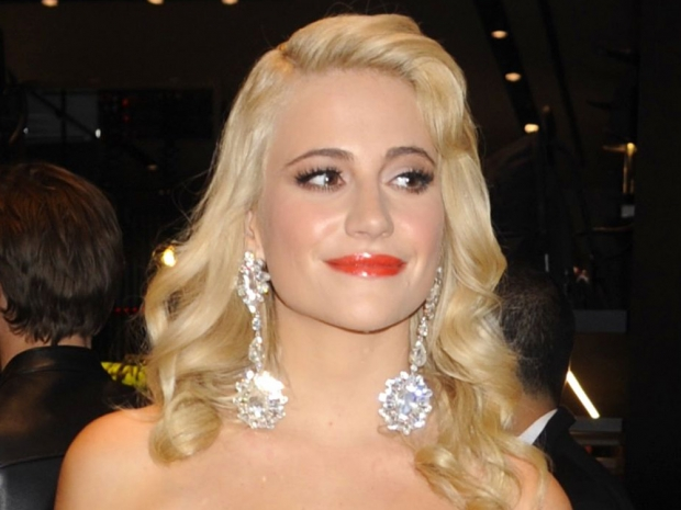 Pixie Lott's hair and make-up at Dsquared2 party