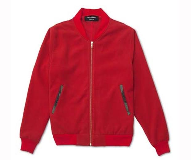 marbek red sports bomber jacket