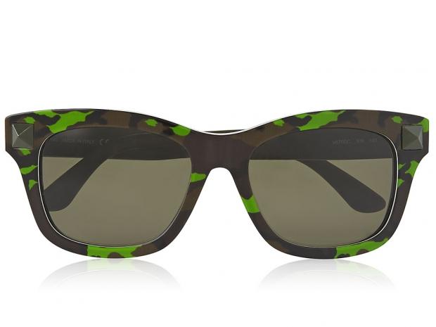 Valentino Camo Print Wayfarer Sunglasses