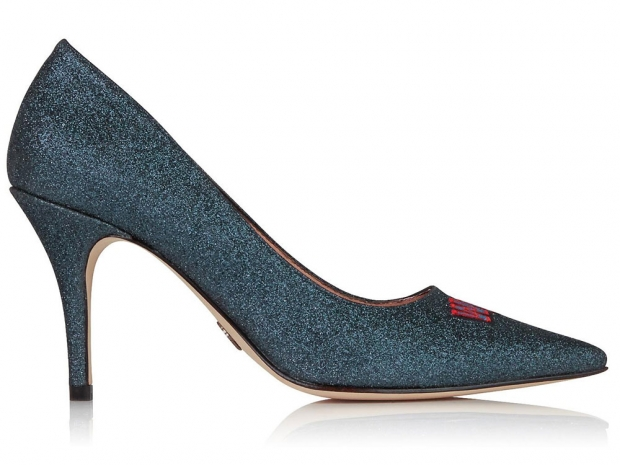 Markus Lupfer Wild Thing Glitter Court Shoes