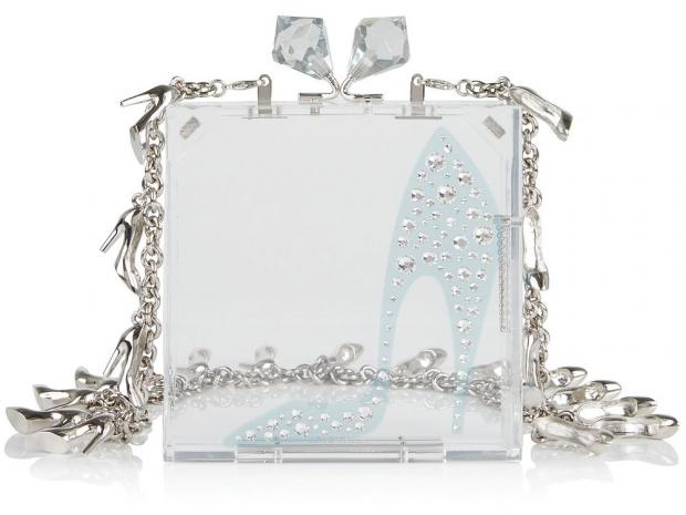 REDValentino Cinderella Shoe Perspex Box Clutch