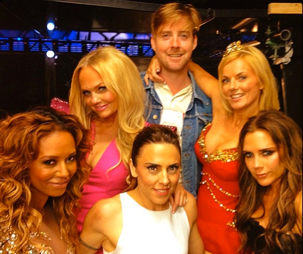 Ricky with the Spice Girls