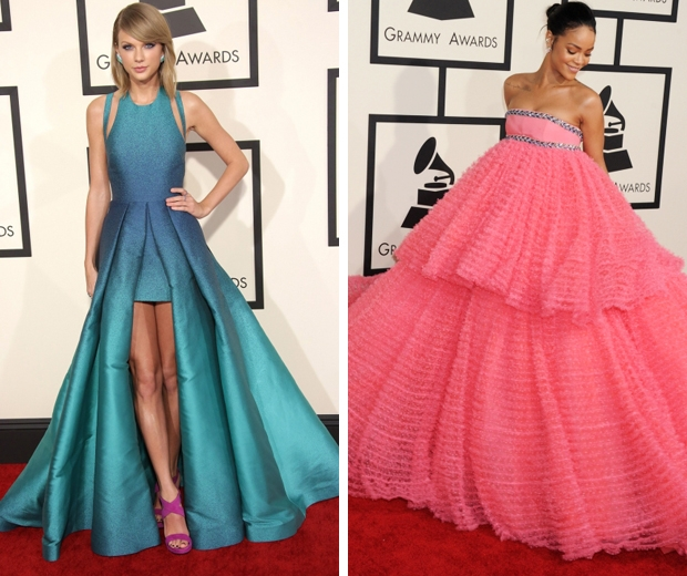 taylor swift and rihanna at the 2015 grammys