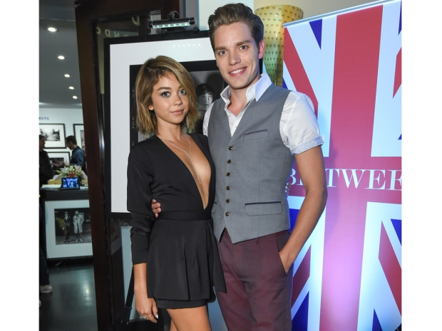 Sarah Hyland and Dominic Sherwood at the British Subjects exhibition
