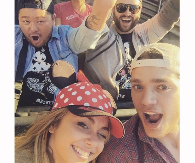 Sarah Hyland takes a selfie with actor boyfriend Dominic Sherwood