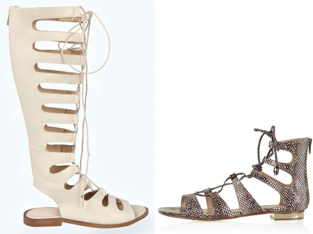 Nab the Chloe look with Boohoo.com's knee high gladiator sandals