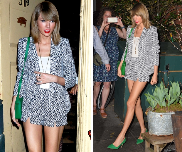 taylor swift in printed black and white missguided co ord