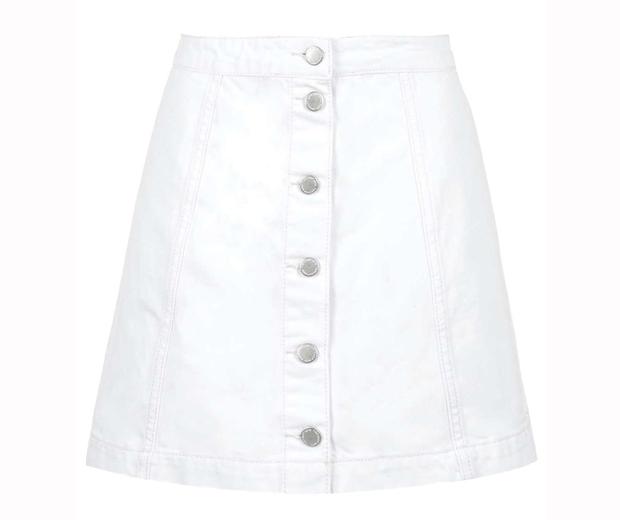Topshop Denim Button Skirt, £28