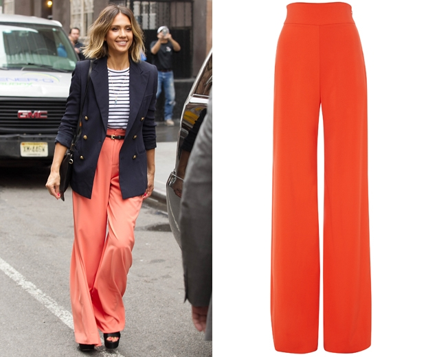 Get Jessica's spring wide leg trousers here.