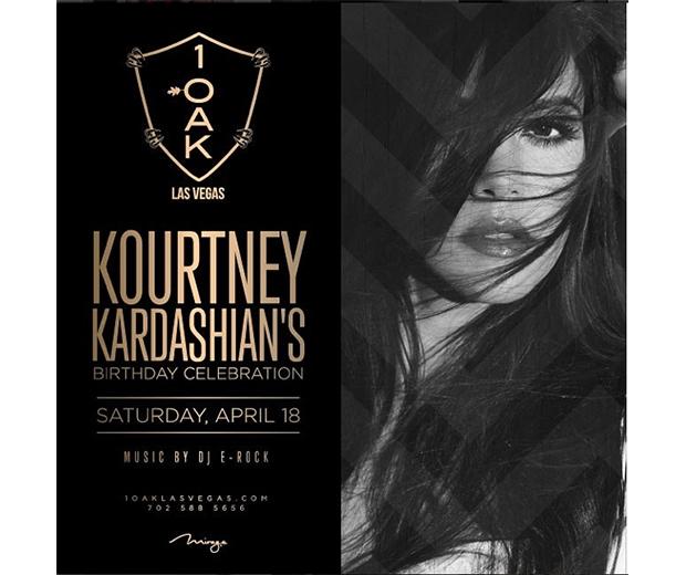 Kourtney's set to celebrate her 35th birthday at 1OAK nightclub in Las Vegas