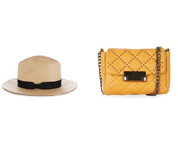 Warehouse Straw Fedora & Topshop Mini Bag