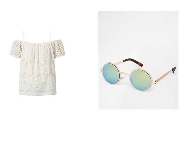 New Look Off The Shoulder Top & ASOS Sunglasses