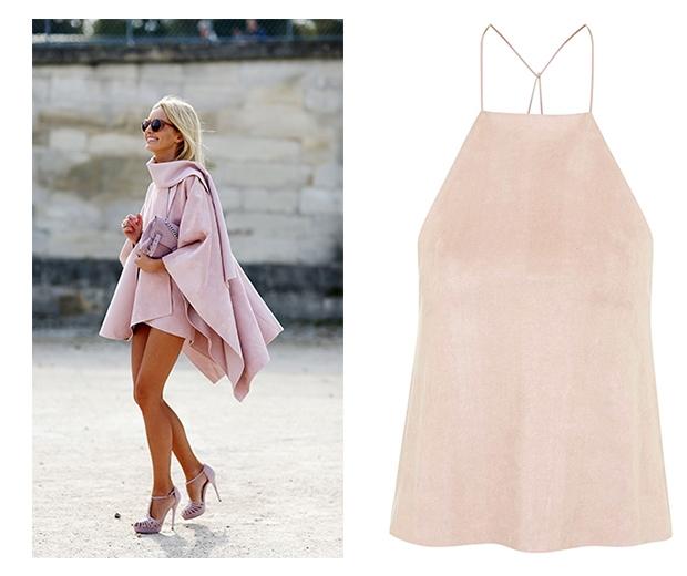 Team up pastel pink & suede