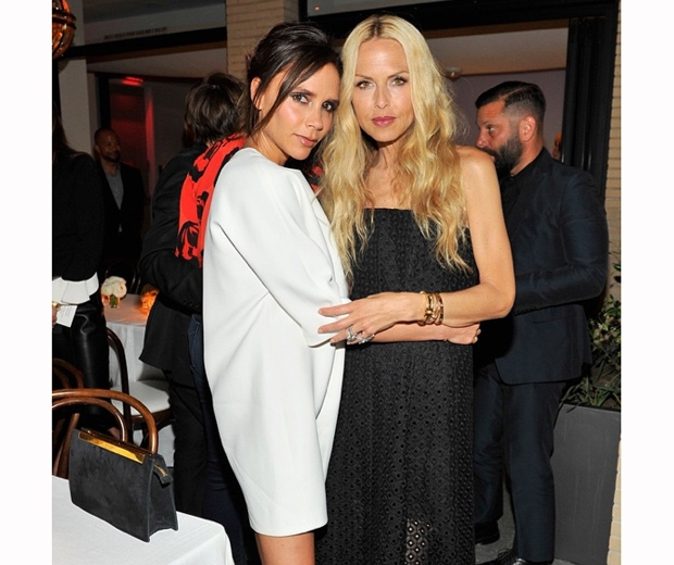 Victoria Beckham and Rachel Zoe pose for a stylish snap at Fred's in LA
