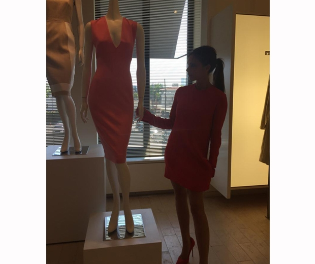 victoria beckham and a mannequin at Barney's New York