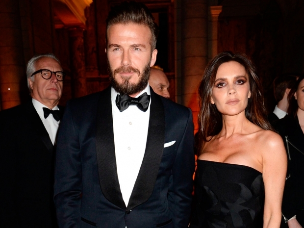 david and victoria beckham on red carpet