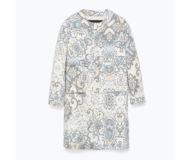 Zara Pixellated Print Coat, £79.99