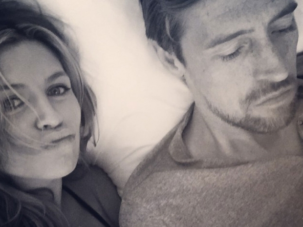 Abbey Clancy and Peter Crouch relax together in Instagram photo