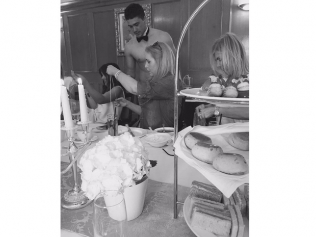 Abbey Clancy posts a picture of her baby shower on Twitter