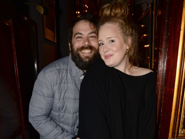Adele and her partner Simon Konecki out in London