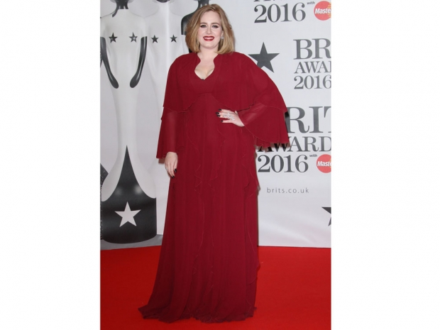 Adele with a brunette bob in January 2015