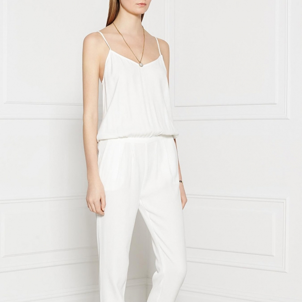 American Vintage Holiester Strappy Jumpsuit – White