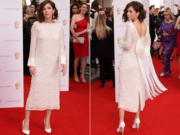 Anna Friel's all-white showstopper at the BAFTAs.