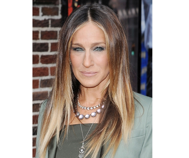Sarah Jessica Parker working balayage hair colour