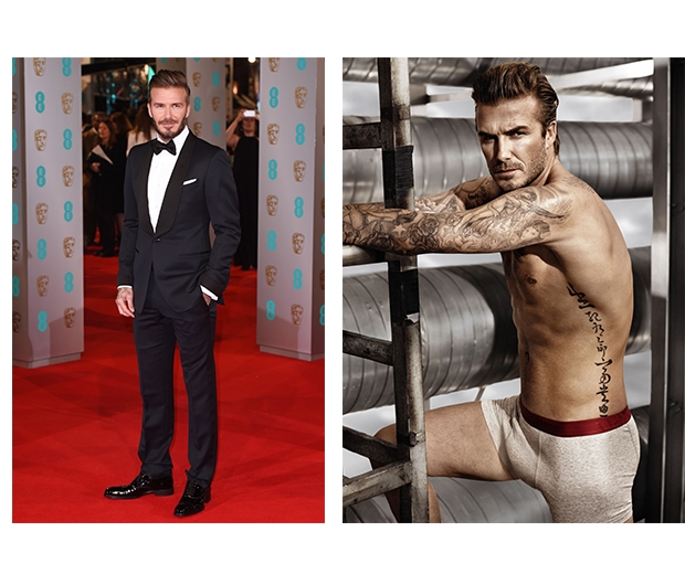 Probs our two favourite looks from Becks. With or without the suit - we're happy