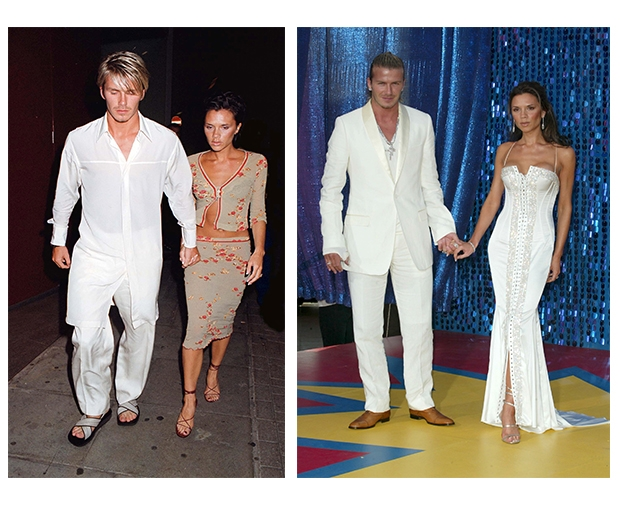 Becks had a thing for white back in the day