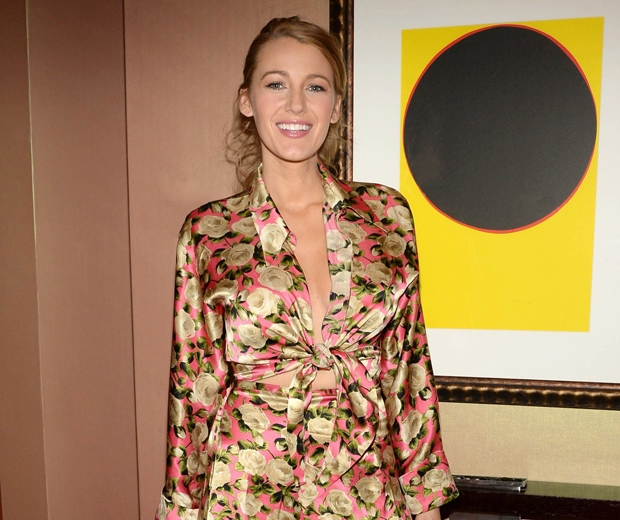 blake lively in floral preserve dress promoting age of adelaine